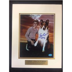 "(LASSIE) JON PROVOST AUTOGRAPHED 8"" X 10"" MATTED PHOTO (STACKS OF PLAQUES COA)"