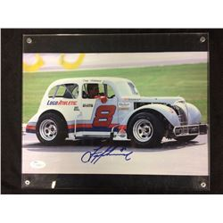 "TROY AIKMAN AUTOGRAPHED 8"" X 12"" PHOTO IN HIS RACING CAR (JSA COA)"