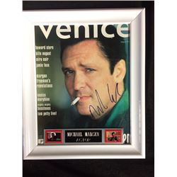 MICHAEL MADSEN AUTOGRAPHED VENICE MAGAZINE COVER FRAMED