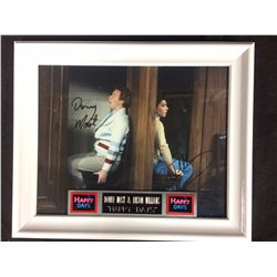 "DONNY MOST & ANSON WILLIAMS AUTOGRAPHED 8"" X 10"" FRAMED PHOTO ""HAPPY DAYS"" W/ COA"