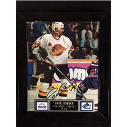 "DAVE BABYCH AUTOGRAPHED FRAMED 10"" X 12"" PHOTO (VANCOUVER CANUCKS)"