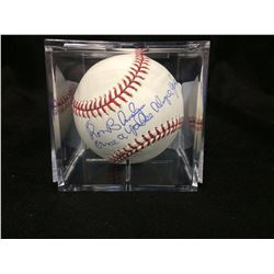 "RON BLOMBERG AUTOGRAPHED MLB BASEBALL W/ INSCRIBED ""ONCE A YANKEE ALWAYS A YANKEE"" (STEINER COA)"