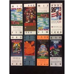 VARIOUS SUPERBOWL TICKETS LOT