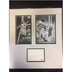 CARL FURILLO AUTOGRAPH MATTED W/ TWO PHOTOS (STACKS & PLAQUES COA)
