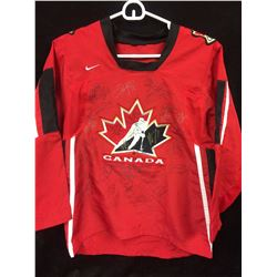 TEAM CANADA 2004 WORLD CUP OF HOCKEY TEAM SIGNED HOCKEY JERSEY