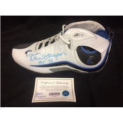 DAVID THOMPSON AUTOGRAPHED BASKETBALL SHOE (LEGENDS COA) HOF 96