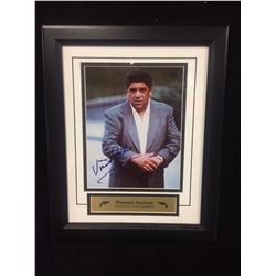 "VINCENT PASTORE AUTOGRAPHED 14"" X 18"" FRAMED PHOTO STACKS OF PLAQUES COA"