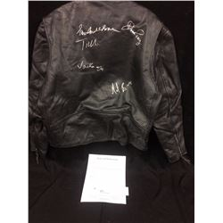 JETHROTULL AUTOGRAPHED LEATHER JACKET (SIGNED BY BAND MEMBERS) W/ JSA/LOA