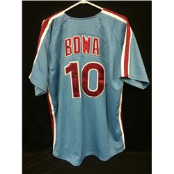 LARRY BOWA AUTOGRAPHED PHILLIES BASEBALL JERSEY (1980 COOPERSTOWN COLLECTION)