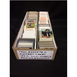 1700 ASSORTED FOOTBALL CARDS (1959-2011) STARS & ROOKIES INCLUDED