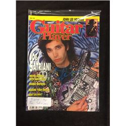 JOE SATRIANI AUTOGRAPHED GUITAR PLAYER MAGAZINE COVER