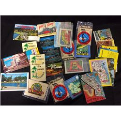 CALIFORNIA POSTCARDS & STICKERS LOT