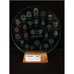 1986 WORLD CUP ETCHED PLAQUE (EXTREMELY RARE)