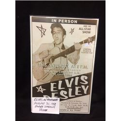 ELVIS PRESLEY CONCERT POSTER (AUG. 31/ 1958 EMPIRE STADIUM. VANCOUVER BC)