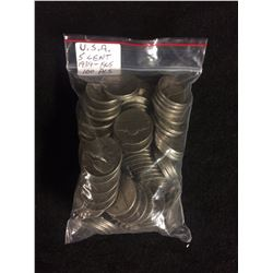 U.S.A 5 CENT COINS (1939-1905) 100 PIECES