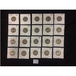 1967 CANADIAN 10 CENT SILVER COINS LOT (20 PIECES)