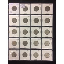1937-68 CANADIAN 25 CENT SILVER COINS LOT