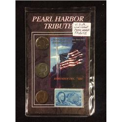 U.S.A COIN & STAMP PEARL HARBOUR TRIBUTE