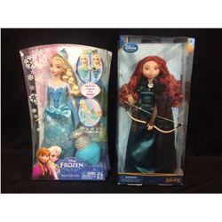 DISNEY DOLLS LOT (ELSA FROM FROZEN & MERIDA FROM BRAVE)