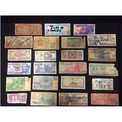 FOREIGN PAPER MONEY LOT WORLD CURRENCY BILLS