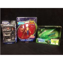 CAPTAIN AMERICA, TOY STORY & GREEN LANTERN TOY LOT (IN BOX)
