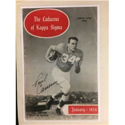 1954 PAUL CAMERON AUTOGRAPHED The Caduceus Of Kappa Sigma Chapter Letter Issue Cover