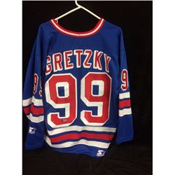 WAYNE GRETZKY AUTOGRAPHED RANGERS JERSEY W/ AL COLLECTIONS COA
