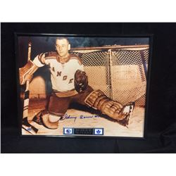 JOHNNY BOWER AUTOGRAPHED FRAMED PHOTO (HOF 1976)