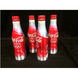 OLYMPIC COCA COLA BOTTLES LOT (1 SIGNED BY ROBERTO LUONGO)