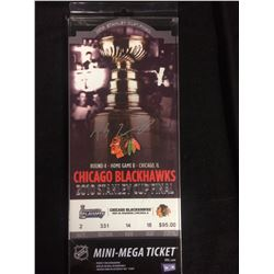 PATRICK SHARP AUTOGRAPHED 2010 STANLEY CUP FINAL MINI-MEGA TICKET