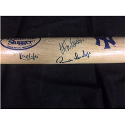 NEW YORK YANKEES AUTOGRAPHED BASEBALL BAT SIGNED BY (3)