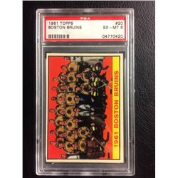 1961 TOPPS #20 BOSTON BRUINS (EX-MT 6) PSA