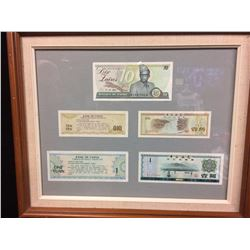 BANK OF CHINA BANK NOTES LOT (FRAMED)