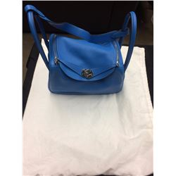AUTHENTIC WOMENS BLUE HERMES HAND BAG