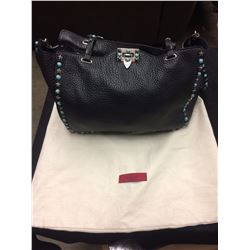 AUTHENTIC WOMENS BLACK VALENTINO HAND BAG