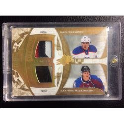 ROOKIE MATERIALS PATCH COMBOS (YAKUPOV & MacKINNON) HOCKEY CARD