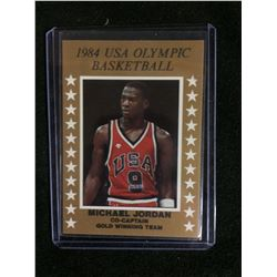 1984 MICHAEL JORDAN USA OLYMPIC BASKETBALL CARD (GOLD WINNING TEAM)