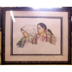 Marie Barbera  Watercolor  Native American Scene