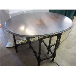 Mahogany Oval Round Gate Leg Table
