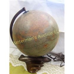 Vintage World Globe Art Deco Rare Airplane Base
