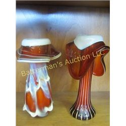 Set of Russian Handmade Art Vases