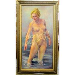 Oil on  Canvas ~Nude Woman by John Roby