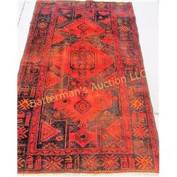 Hamadan Veg. Dyed Rug/ Deep Orange