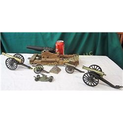 7 Miniature scaled Cannons