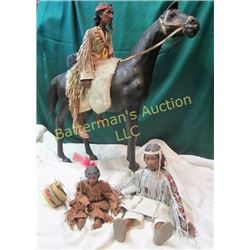 Leather Horse and 3 Daddy Long Leg Dolls
