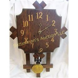 Art and Crafts Style Wall Clock