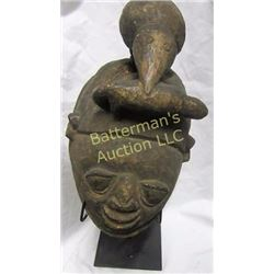 Cameroon Grasslands Mask with Bird