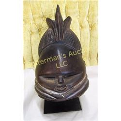 Mende Sowei Carved  African Tribal Mask