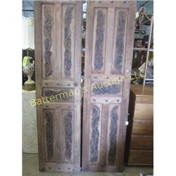 Pair of Carved Wooden Doors