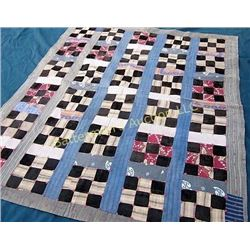 Brown Checkerboard Quilt
